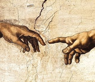 Michelangelo, Creation of Adam, detail, 1509
