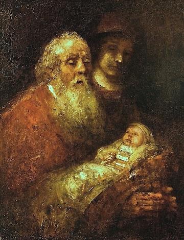Rembrandt, Simeon in the Temple