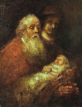 Rembrandt, Simeon in the Temple